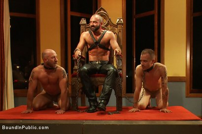 Photo number 1 from Live Shoot: Dirk Caber and 200 horny men at Folsom weekend party. shot for Bound in Public on Kink.com. Featuring Josh West and Dirk Caber in hardcore BDSM & Fetish porn.