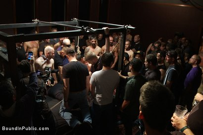 Photo number 5 from Live Shoot: Dirk Caber and 200 horny men at Folsom weekend party. shot for Bound in Public on Kink.com. Featuring Josh West and Dirk Caber in hardcore BDSM & Fetish porn.
