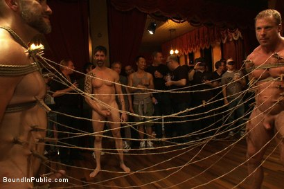 Photo number 8 from Live Shoot: Dirk Caber and 200 horny men at Folsom weekend party. shot for Bound in Public on Kink.com. Featuring Josh West and Dirk Caber in hardcore BDSM & Fetish porn.