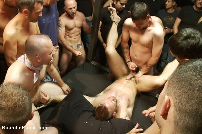 Photo number 14 from Live Shoot: Dirk Caber and 200 horny men at Folsom weekend party. shot for Bound in Public on Kink.com. Featuring Josh West and Dirk Caber in hardcore BDSM & Fetish porn.