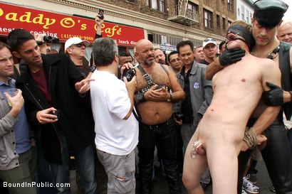 Photo number 2 from Classic Archive Feature: Noah Brooks gets gang fucked! shot for Bound in Public on Kink.com. Featuring Master Avery and Noah Brooks in hardcore BDSM & Fetish porn.