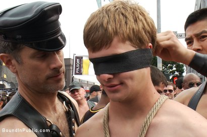 Photo number 7 from Classic Archive Feature: Noah Brooks gets gang fucked! shot for Bound in Public on Kink.com. Featuring Master Avery and Noah Brooks in hardcore BDSM & Fetish porn.