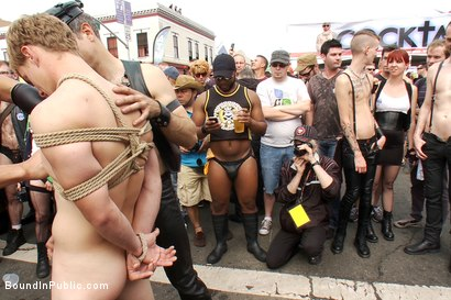 Photo number 5 from Classic Archive Feature: Noah Brooks gets gang fucked! shot for Bound in Public on Kink.com. Featuring Master Avery and Noah Brooks in hardcore BDSM & Fetish porn.