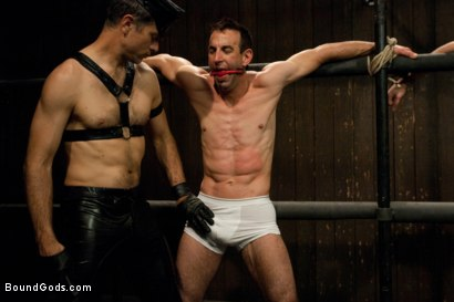 Photo number 1 from Post Orgasm Torment - Live Shoot shot for Bound Gods on Kink.com. Featuring Van Darkholme, Jason Miller, Jeof Pierson and Master Avery in hardcore BDSM & Fetish porn.