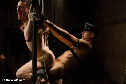 Photo number 5 from Post Orgasm Torment - Live Shoot shot for Bound Gods on Kink.com. Featuring Van Darkholme, Jason Miller, Jeof Pierson and Master Avery in hardcore BDSM & Fetish porn.