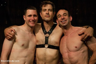 Photo number 15 from Post Orgasm Torment - Live Shoot shot for Bound Gods on Kink.com. Featuring Van Darkholme, Jason Miller, Jeof Pierson and Master Avery in hardcore BDSM & Fetish porn.