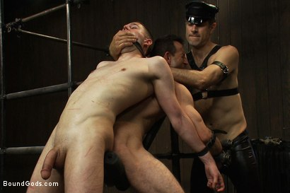 Photo number 11 from Post Orgasm Torment - Live Shoot shot for Bound Gods on Kink.com. Featuring Van Darkholme, Jason Miller, Jeof Pierson and Master Avery in hardcore BDSM & Fetish porn.
