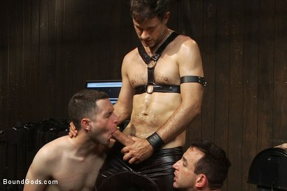 Photo number 13 from Post Orgasm Torment - Live Shoot shot for Bound Gods on Kink.com. Featuring Van Darkholme, Jason Miller, Jeof Pierson and Master Avery in hardcore BDSM & Fetish porn.