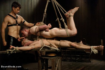 Photo number 14 from Post Orgasm Torment - Live Shoot shot for Bound Gods on Kink.com. Featuring Van Darkholme, Jason Miller, Jeof Pierson and Master Avery in hardcore BDSM & Fetish porn.