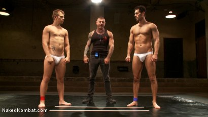 Photo number 7 from Two Boyfriends Go Head to Head shot for Naked Kombat on Kink.com. Featuring Mike Rivers and Alexander Garrett in hardcore BDSM & Fetish porn.