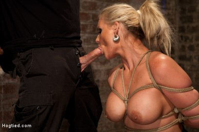 Photo number 3 from You ever just want to tie a girl up and fuck her throat with out mercy. Just non stop skull fucking? shot for Hogtied on Kink.com. Featuring Phoenix Marie in hardcore BDSM & Fetish porn.