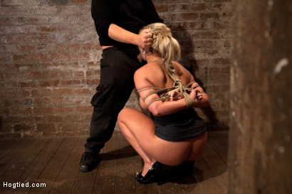 Photo number 6 from You ever just want to tie a girl up and fuck her throat with out mercy. Just non stop skull fucking? shot for Hogtied on Kink.com. Featuring Phoenix Marie in hardcore BDSM & Fetish porn.