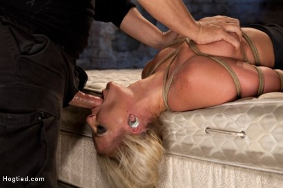Photo number 7 from You ever just want to tie a girl up and fuck her throat with out mercy. Just non stop skull fucking? shot for Hogtied on Kink.com. Featuring Phoenix Marie in hardcore BDSM & Fetish porn.