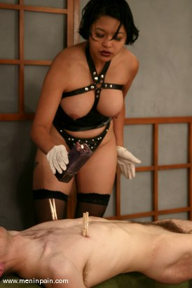 Photo number 5 from Mika Tan and Charlie Hustle shot for Men In Pain on Kink.com. Featuring Mika Tan and Charlie Hustle in hardcore BDSM & Fetish porn.