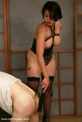 Photo number 8 from Mika Tan and Charlie Hustle shot for Men In Pain on Kink.com. Featuring Mika Tan and Charlie Hustle in hardcore BDSM & Fetish porn.