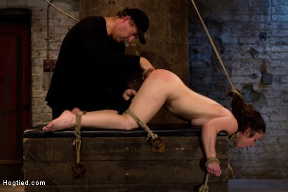 Photo number 13 from Girl next door bound ass up. Double penetrated<br>Skull fucked & caned, vibrated 2 multiple orgasms  shot for Hogtied on Kink.com. Featuring Serena Blair in hardcore BDSM & Fetish porn.