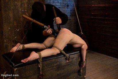 Photo number 11 from Girl next door bound ass up. Double penetrated<br>Skull fucked & caned, vibrated 2 multiple orgasms  shot for Hogtied on Kink.com. Featuring Serena Blair in hardcore BDSM & Fetish porn.