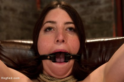Photo number 5 from Tiny 5'0 100lb girl in the ultimate fuck me position. Orgasm overload to the max! Massive squirting. shot for Hogtied on Kink.com. Featuring Serena Blair in hardcore BDSM & Fetish porn.