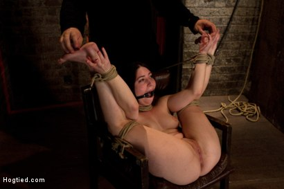 Photo number 13 from Tiny 5'0 100lb girl in the ultimate fuck me position. Orgasm overload to the max! Massive squirting. shot for Hogtied on Kink.com. Featuring Serena Blair in hardcore BDSM & Fetish porn.