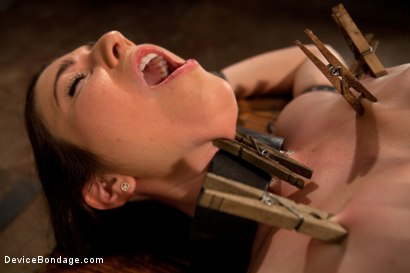 Photo number 4 from Double Dose - the supple silent type and the boisterous squirter shot for Device Bondage on Kink.com. Featuring Serena Blair and Rylie Richman in hardcore BDSM & Fetish porn.