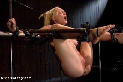 Photo number 9 from Double Dose - the supple silent type and the boisterous squirter shot for Device Bondage on Kink.com. Featuring Serena Blair and Rylie Richman in hardcore BDSM & Fetish porn.