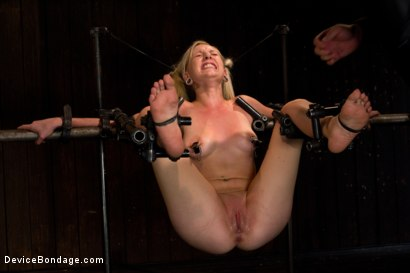 Photo number 15 from Double Dose - the supple silent type and the boisterous squirter shot for Device Bondage on Kink.com. Featuring Serena Blair and Rylie Richman in hardcore BDSM & Fetish porn.