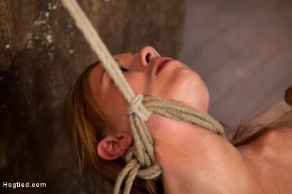 Photo number 15 from 19yr brat learns not to fuck w/The Williams<br>ends up struggling to breathe; cumming like a whore. shot for Hogtied on Kink.com. Featuring Mae Meyers in hardcore BDSM & Fetish porn.