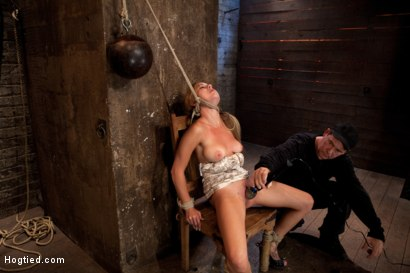 Photo number 11 from 19yr brat learns not to fuck w/The Williams<br>ends up struggling to breathe; cumming like a whore. shot for Hogtied on Kink.com. Featuring Mae Meyers in hardcore BDSM & Fetish porn.