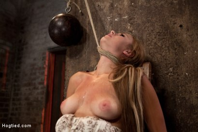 Photo number 10 from 19yr brat learns not to fuck w/The Williams<br>ends up struggling to breathe; cumming like a whore. shot for Hogtied on Kink.com. Featuring Mae Meyers in hardcore BDSM & Fetish porn.