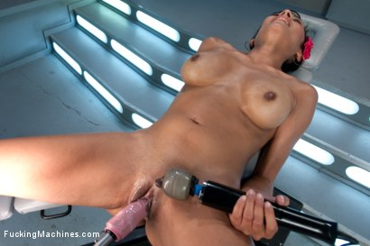 Photo number 14 from Audition Shoot: Her First Porn shot for Fucking Machines on Kink.com. Featuring Beretta James in hardcore BDSM & Fetish porn.