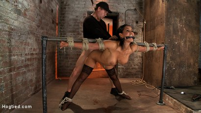 Photo number 6 from Isis Love, bound, gagged, flogged, fucked to multiple orgasms. Her first submissive role in years! shot for Hogtied on Kink.com. Featuring Isis Love in hardcore BDSM & Fetish porn.