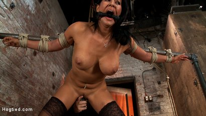Photo number 9 from Isis Love, bound, gagged, flogged, fucked to multiple orgasms. Her first submissive role in years! shot for Hogtied on Kink.com. Featuring Isis Love in hardcore BDSM & Fetish porn.
