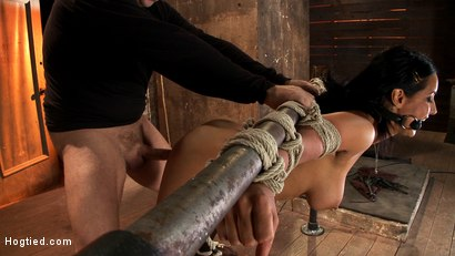 Photo number 8 from Isis Love, bound, gagged, flogged, fucked to multiple orgasms. Her first submissive role in years! shot for Hogtied on Kink.com. Featuring Isis Love in hardcore BDSM & Fetish porn.