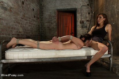 Photo number 13 from Total Amateur Gets Tied up and Dominated for the First time Ever shot for Wired Pussy on Kink.com. Featuring Natalie and Princess Donna Dolore in hardcore BDSM & Fetish porn.