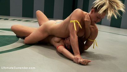 Photo number 11 from Blond Fitness model & gorgeous brunette battle it out on the mat. Loser gets fucked, must lick pussy shot for Ultimate Surrender on Kink.com. Featuring Holly Heart and Audrey Rose in hardcore BDSM & Fetish porn.