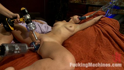Fucked Wide Open By Machines: New Girl Cums like she NEVER has Before