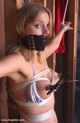 Photo number 3 from Rhannion shot for Hogtied on Kink.com. Featuring Rhannion in hardcore BDSM & Fetish porn.