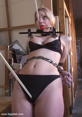 Photo number 5 from Rhannion shot for Hogtied on Kink.com. Featuring Rhannion in hardcore BDSM & Fetish porn.