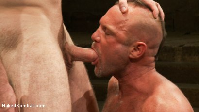 Photo number 5 from Tober's Back! shot for Naked Kombat on Kink.com. Featuring Chad Brock and Tober Brandt in hardcore BDSM & Fetish porn.