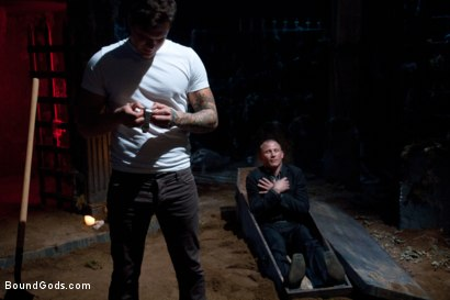 Photo number 2 from The Grave Robber - Halloween Update shot for Bound Gods on Kink.com. Featuring Parker London and Brenn Wyson in hardcore BDSM & Fetish porn.