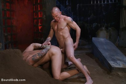 Photo number 9 from The Grave Robber - Halloween Update shot for Bound Gods on Kink.com. Featuring Parker London and Brenn Wyson in hardcore BDSM & Fetish porn.