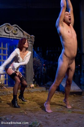 Photo number 15 from LAMENT: A Ghost Story shot for Divine Bitches on Kink.com. Featuring DragonLily, Maitresse Madeline Marlowe , Gabriel Dalessandro and Annie Cruz in hardcore BDSM & Fetish porn.