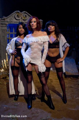 Photo number 6 from LAMENT: A Ghost Story shot for Divine Bitches on Kink.com. Featuring DragonLily, Maitresse Madeline Marlowe , Gabriel Dalessandro and Annie Cruz in hardcore BDSM & Fetish porn.