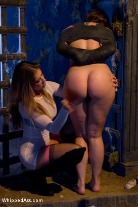 """Photo number 5 from Sinn Sage gets SPANKED in """"Hooker's Curse""""!!!!! shot for Whipped Ass on Kink.com. Featuring Bobbi Starr, Felony, Sinn Sage and DragonLily in hardcore BDSM & Fetish porn."""