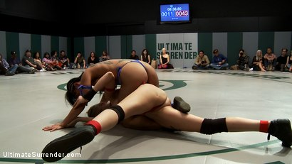 Photo number 3 from RD 1: Team Blue VS. Team Red!  Brutal unscripted tag team wrestling! Sexual wrestling at it's best shot for Ultimate Surrender on Kink.com. Featuring Iona Grace, Isis Love, Mahina Zaltana, Rain DeGrey and Chloe Camilla in hardcore BDSM & Fetish porn.
