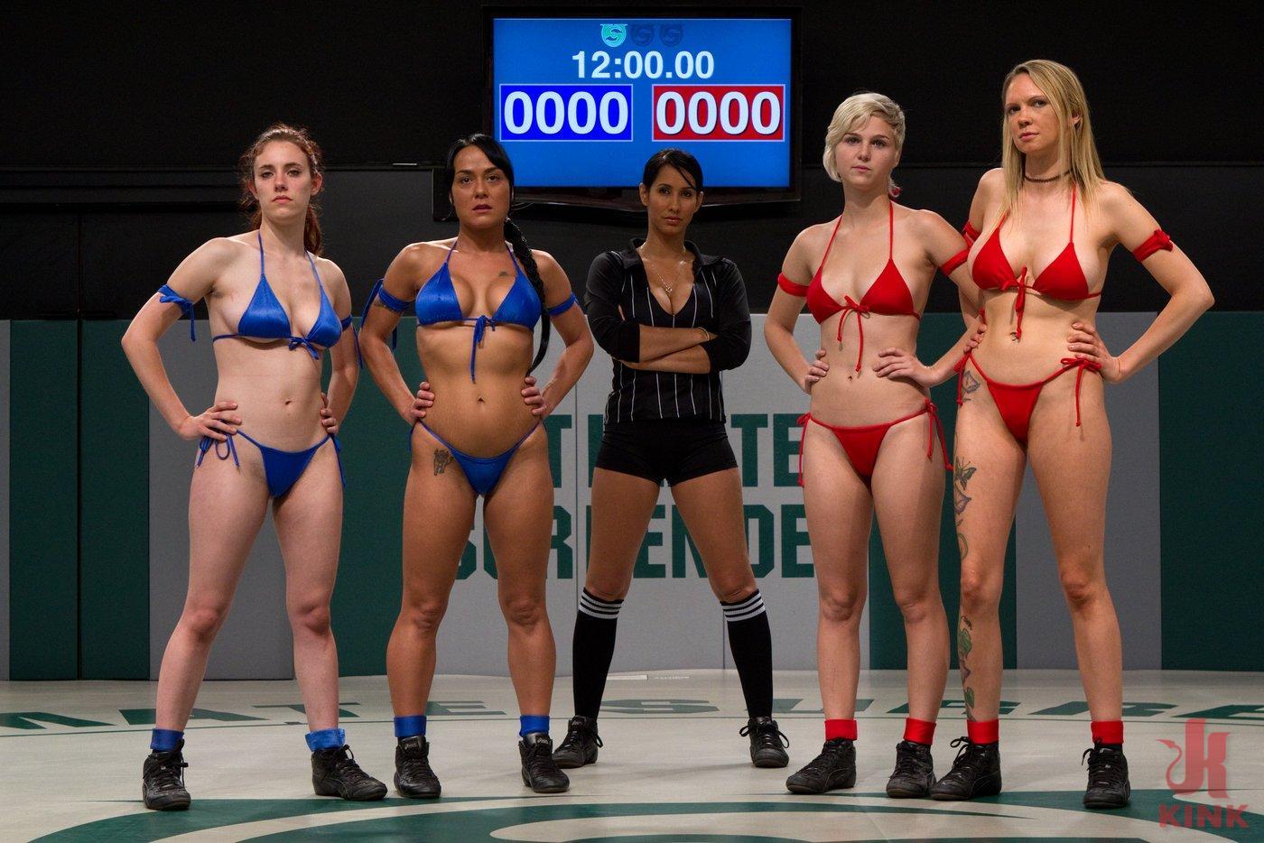 RD 1: Team Blue VS. Team Red!Brutal unscripted tag team wrestling! Sexual wrestling at it's best