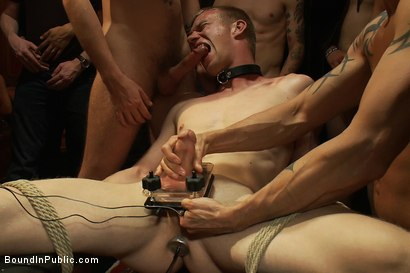 Photo number 11 from Halloween Masquerade Party shot for Bound in Public on Kink.com. Featuring Blake Daniels and Tyler Saint in hardcore BDSM & Fetish porn.