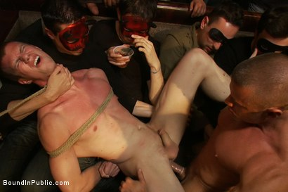 Photo number 14 from Halloween Masquerade Party shot for Bound in Public on Kink.com. Featuring Blake Daniels and Tyler Saint in hardcore BDSM & Fetish porn.