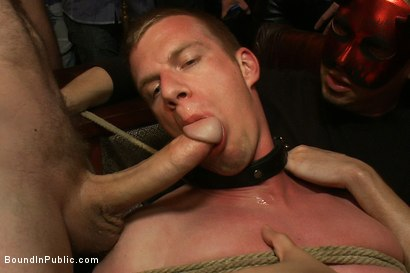 Photo number 12 from Halloween Masquerade Party shot for Bound in Public on Kink.com. Featuring Blake Daniels and Tyler Saint in hardcore BDSM & Fetish porn.