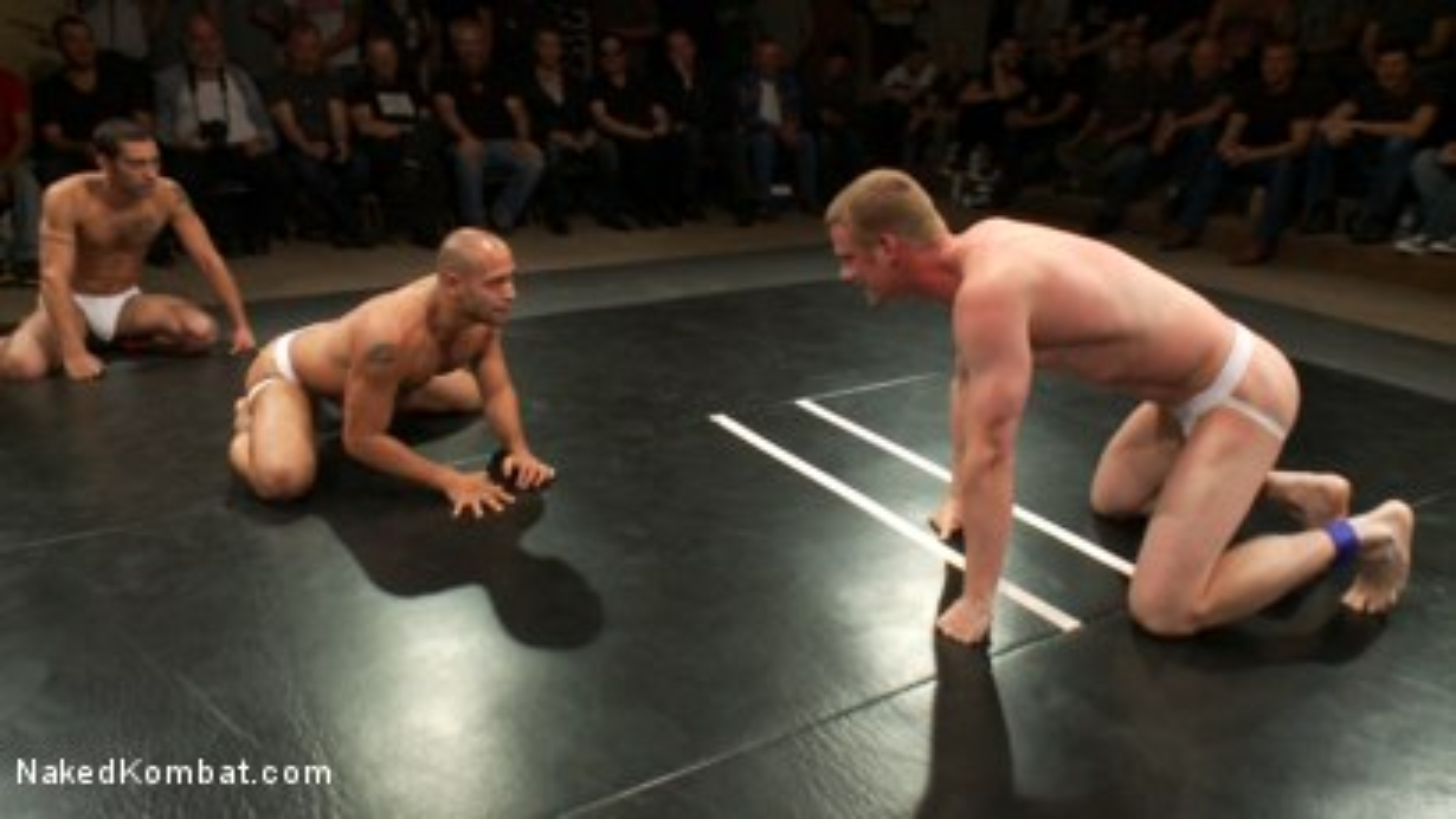 Photo number 11 from Intense Live Tag-Team Match! shot for nakedkombat on Kink.com. Featuring Parker London, Brenn Wyson, Leo Forte, DJ and Blake Daniels in hardcore BDSM & Fetish porn.